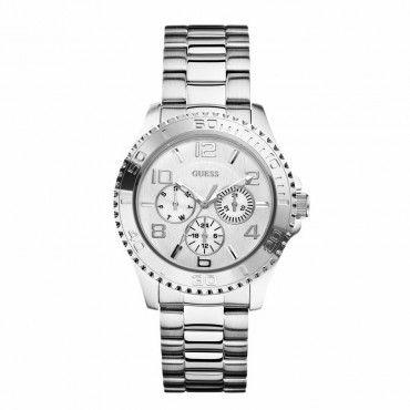W0231L1 Γυναικείο quartz ρολόι του οίκου GUESS με ατσάλινο μπρασελέ, ημέρα & ημερομηνία. Αποστολή εντός 24 ωρών #Guess #ημερα #ημερομηνια #μπρασελε #ρολοι