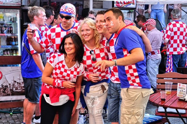 Euro 2012 in Gdansk. Croatia vs. Spain.