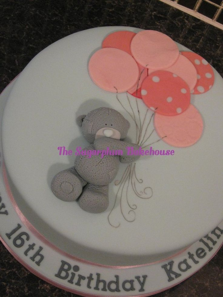 Me To You Bear / Tatty Teddy Birthday Cake - All decoration is hand made, hand painted and edible.