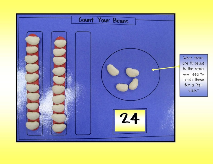 Kindergarten Crayons: Don't Spill the Beans: Beginning Place Value Work for Kinders