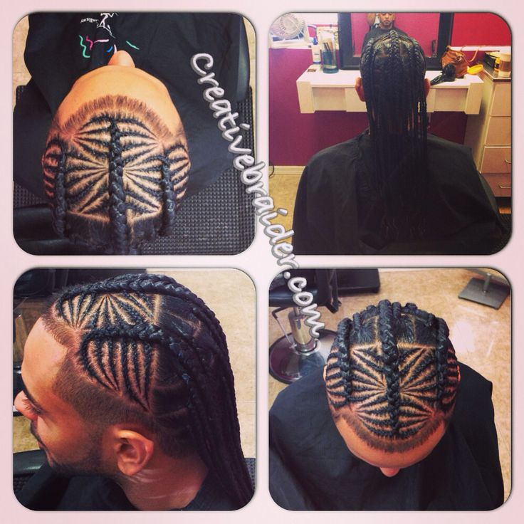 My Work #mencornrows #braids #design #fishbones #braidskillz #hair #styles