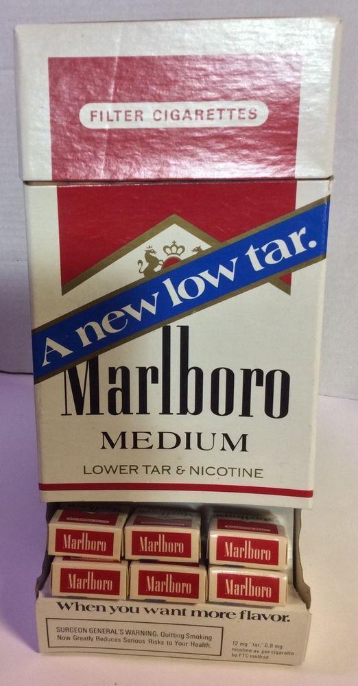 Marlboro Cigarette Display Box Holds Mini Cigarette Boxes Filled With Matches  #Marlboro
