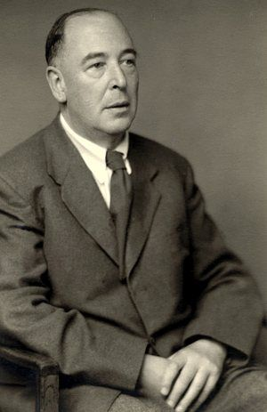 Author C.S. Lewis is pictured in a 1955 portrait by Walter Stoneman. CNS / courtesy of the National Portrait Gallery, London