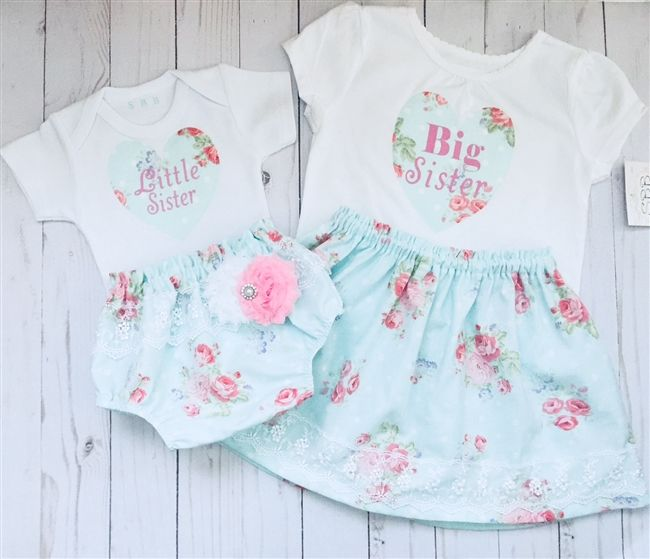 Big Sister Little Sister Shabby Chic Outfits Matching Sister Outfits Sister Outfits Big Sister Outfits