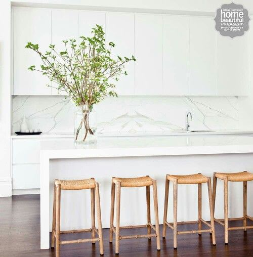 White kitchen - Home Beautiful Magazine Australia