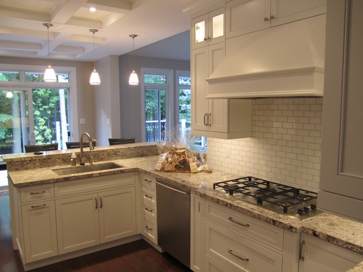Main Kitchen with coffered ceiling.