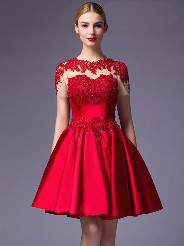 Vestido corto para boda elegante