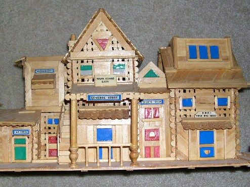 how to make a house with wood craft sticks