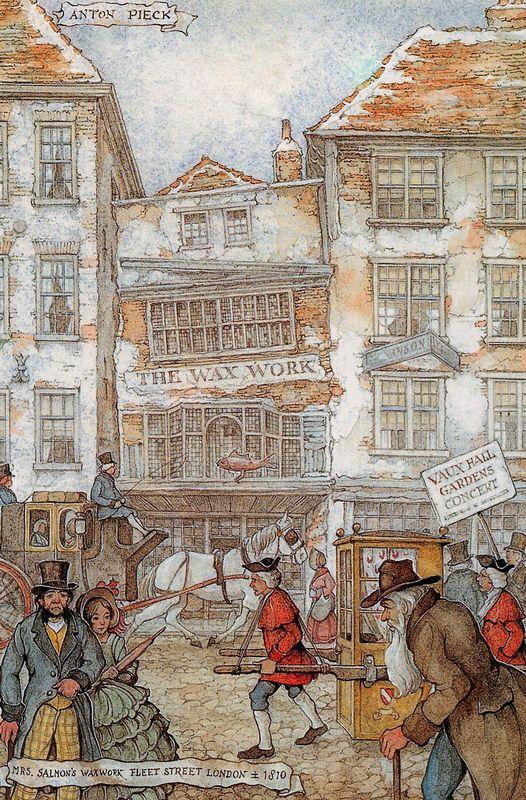 Anton Pieck, Mrs Salmon's Waxworks, Fleet Street, London