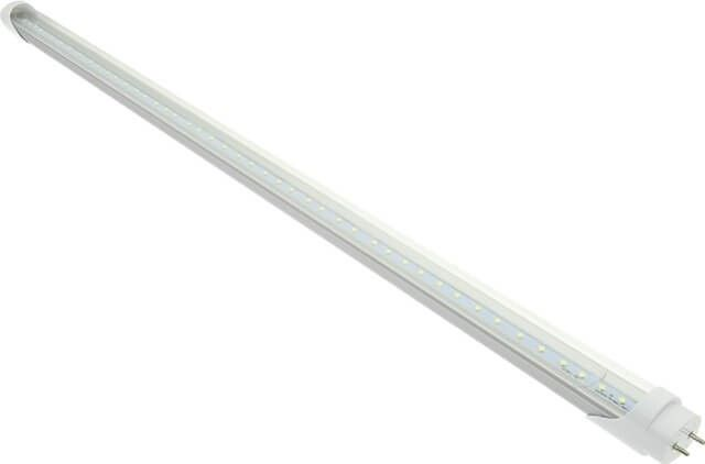 TUB NEON LED 18W 120CM CLAR ALB CALD AL-PLASTIC - Tubul neon LED clar iti lumineaza bucataria sau holul in lumina alb calda (2700K) similar unui tub traditional T8 de 36W, desi varianta LED consuma doar 16W. In plus este un produs care imprastie lumina uniform. Pretul este per bucata.