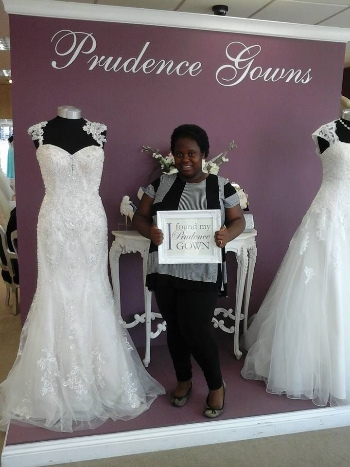 Our new #bride Precilla found her #weddingdress in our #Plymouth store today. YAY! #DressingYourDreams #PrudenceGowns