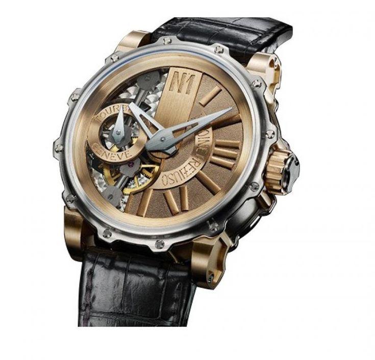 Antoine Preziuso Mega Tourbillon Tourbillons Skeleton - швейцарские часы - мужские наручные золотые + титан