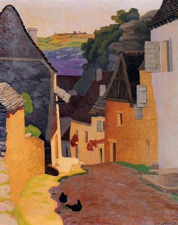 'Street in Village Rocamadour' - 1925  Felix Vallotton