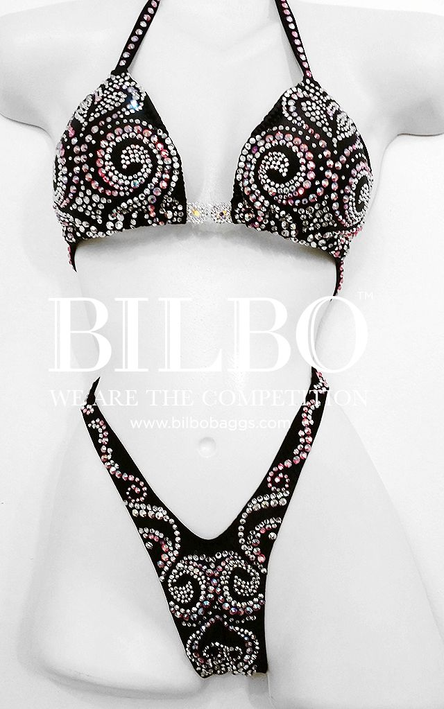 Custom suits made to fit! Bilbo suits are made to your specifications in any color and coordinating stone colors. #figure #physique #competition #competitionsuits