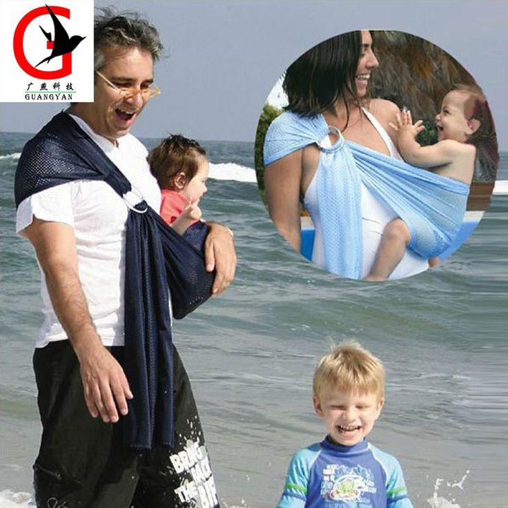 Portante di Bambino respirabile Con Poliestere E Tessuti Quickdry Materiale Acqua Anello Imbracature Battente A Nuovo Bambino Fionda Prodotto
