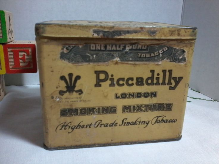 Piccadilly London Smoking Mixture  Smoking Tobacco by Appointment to H.R.H. the Prince of Wales by MajorVintageShop on Etsy