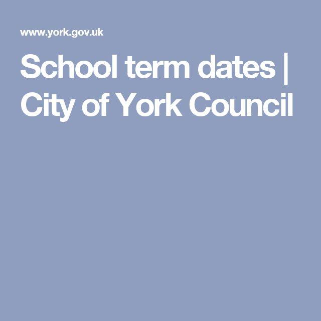 School term dates | City of York Council