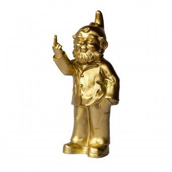 #design3000 Gartenzwerg Sponti - goldene Skulptur des bekannten deutschen Künstlers Ottmar Hörl.
