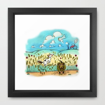Mr Badger & Little Stitch Framed Art Print by Mr Badger & Little Stitch - $33.00