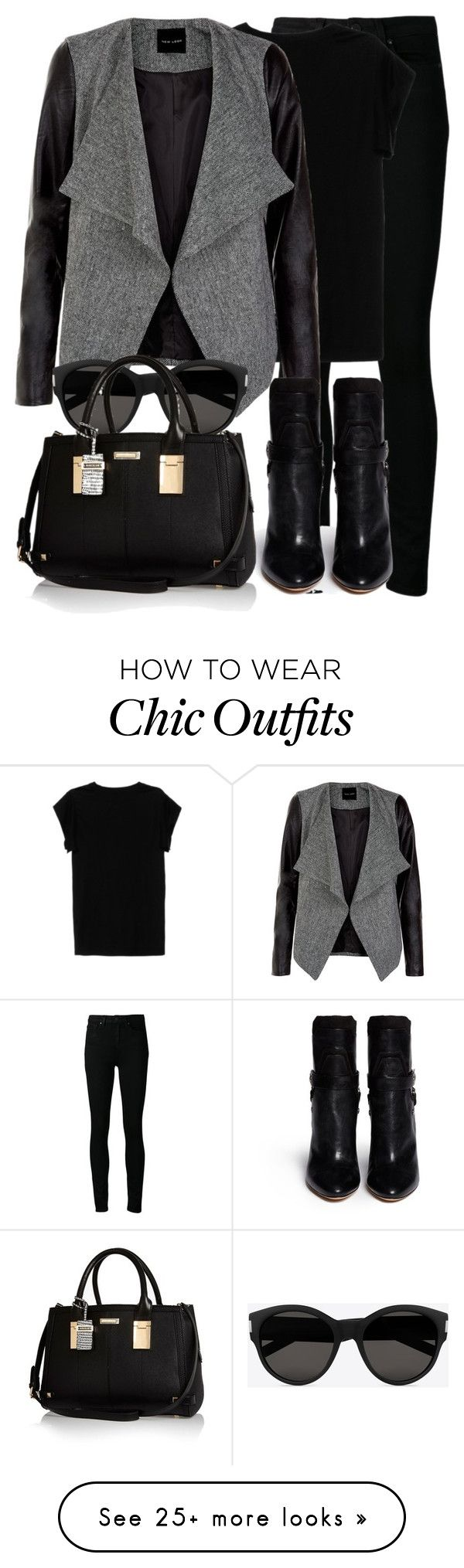 """""""Sem título #1417"""" by beatrizvilar on Polyvore featuring Paige Denim, Isabel Marant, Yves Saint Laurent and River Island"""