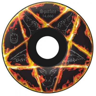 Spitfire Skateboard Wheels - Pentagram Black 52.666mm