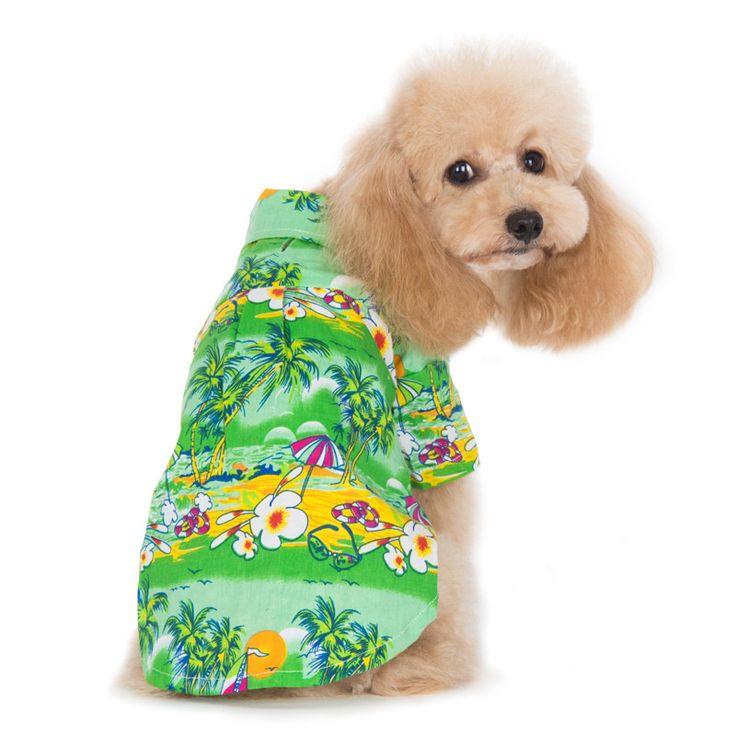 Tropical Island Dog Shirt - Green