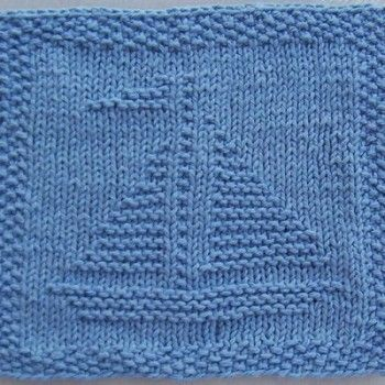 Sailboat Knit Dishcloth Pattern