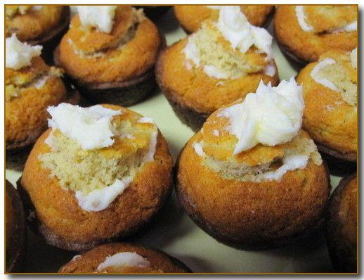 Marshmallow Buttercream filled Banana Muffins
