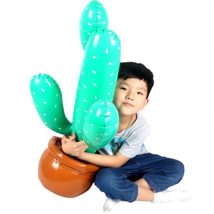 pas cher dr le 85 cm gonflable grand cactus arbre pour plage de sable jouet enfants ballon d. Black Bedroom Furniture Sets. Home Design Ideas