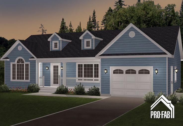 Pro fab constructeur de maisons modulaires usin es for Modele de maison avec garage
