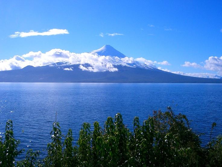 Llanquihue Lake and Osorno Volcano, Chile #llanquihue #lakellanquihue #southchile #patagonia #loslagos