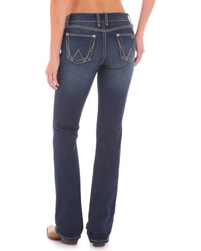 Wrangler Retro Women's Mid-Rise Boot Cut Jeans, Indigo