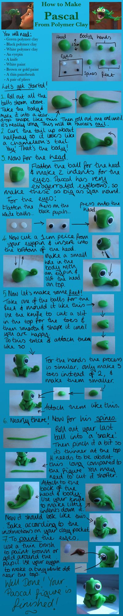Tangled Pascal Clay Tutorial by ~LightningMcTurner