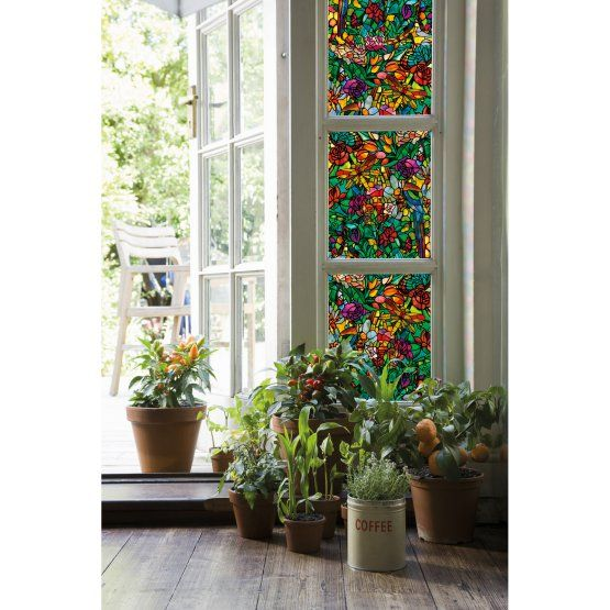 DC Fix Spring Chapel Window Wallpaper - Set of 2