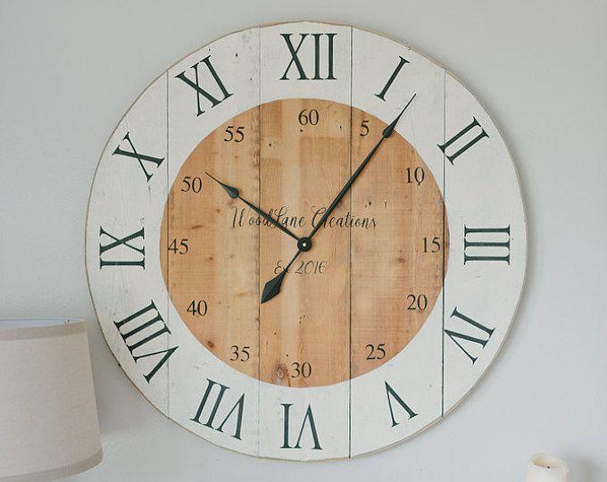 best 25 large wall clocks ideas on pinterest big clocks wall clock decor and neutral wall clocks. Black Bedroom Furniture Sets. Home Design Ideas