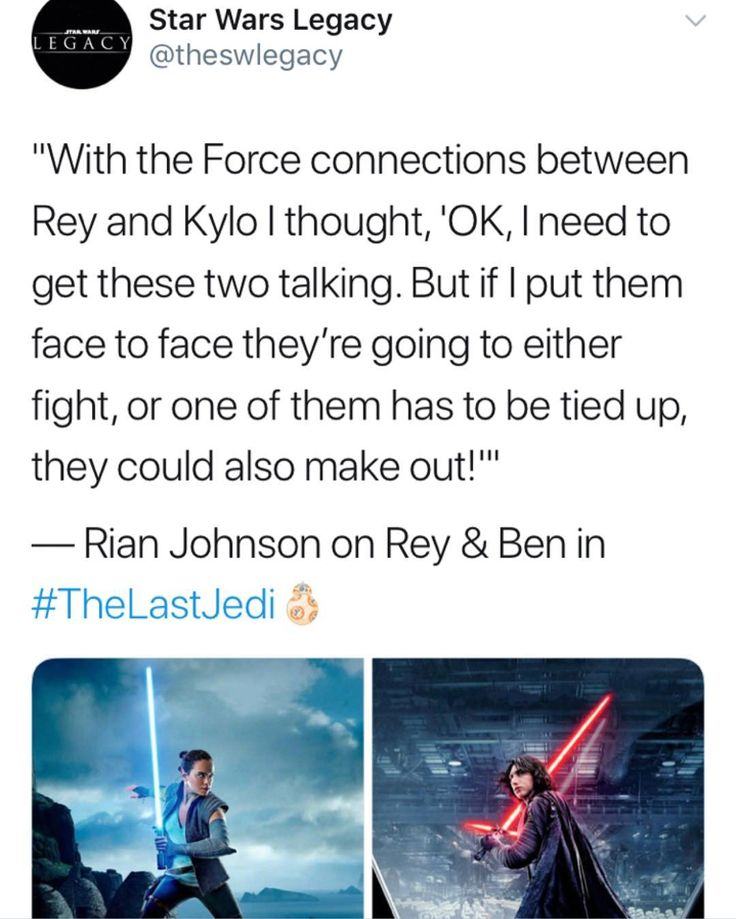"""They could also make out"" IT'S CANNON THEY WILL MARRY IN EPISODE IX!!"