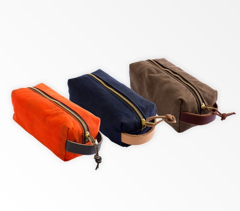 Canvas & Leather Dopp Kit