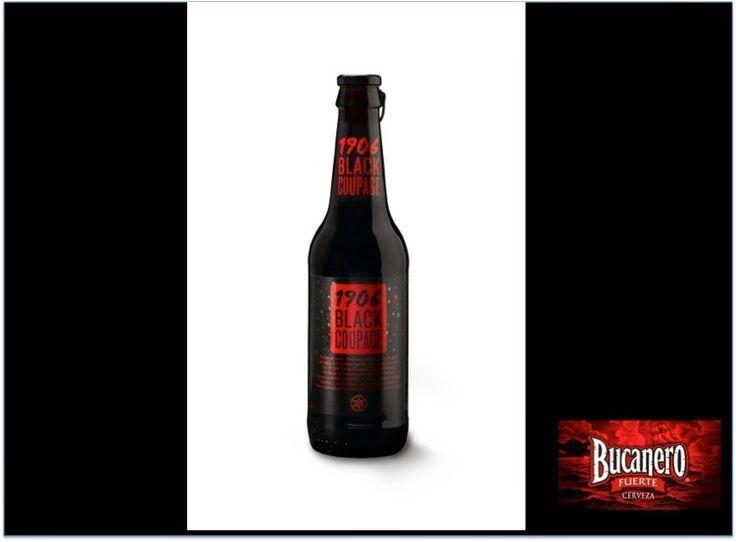 """CERVEZA BUCANERO El día de hoy se ha dado a conocer la noticia que la compañía gallega Hijos de Rivera presenta su nueva cerveza de sabor muy intenso llamada """"1906 Blak Coupage"""" y han clasificado a su producto como """"único y con un diseño muy elegante"""".www.cervezasdecuba.com"""