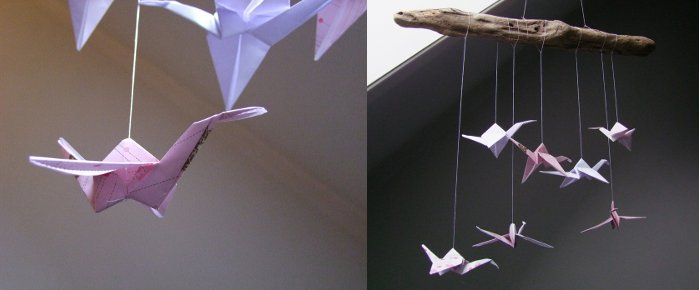 Kids DIY: kraanvogel mobiel van http://blog-nl.dawanda.com