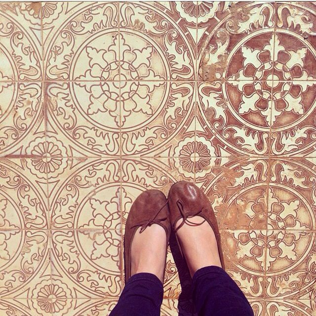 classic shoes on a wonderful mosaic floor