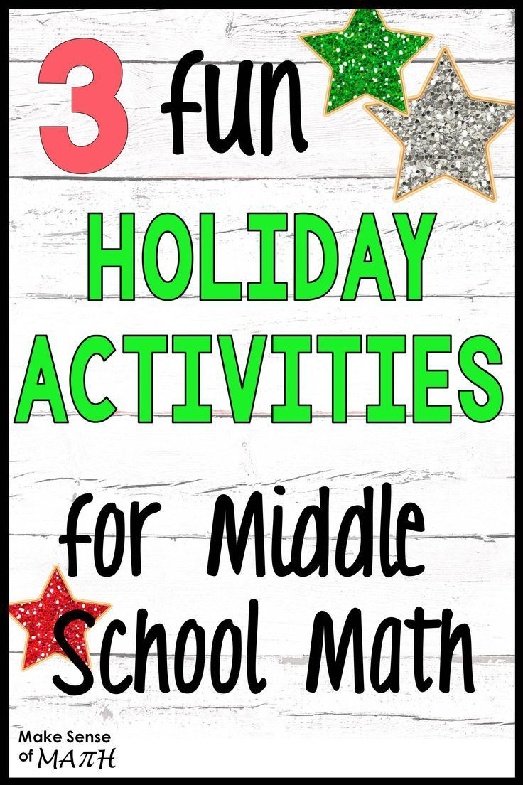 Check Out These Fun Holiday Math Activities For Middle School Math Great Ideas To Maths Activities Middle School Middle School Math Math Games Middle School