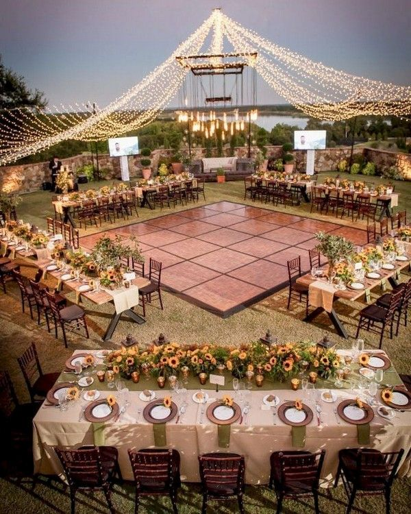 20+ Romantic Wedding Lighting Ideas for Wedding Reception