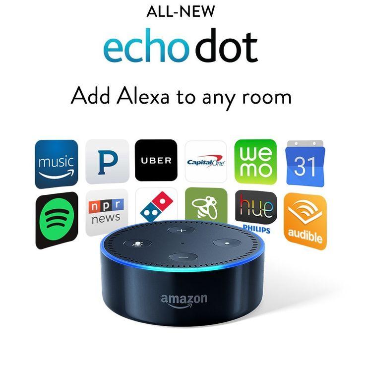 All-New Amazon Echo Dot - Add Alexa to any room