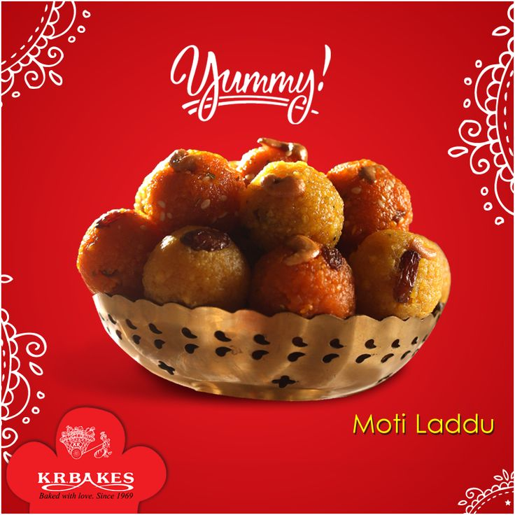 Yummy Laddus - Start your week with a sweet.  #KRBakes #KRBakesSince1969 #BakedWithLove #Laddu