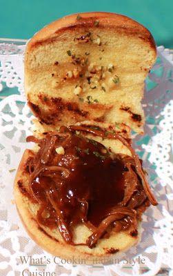 Jack Daniels Pulled Beef Garlic Sliders Recipe