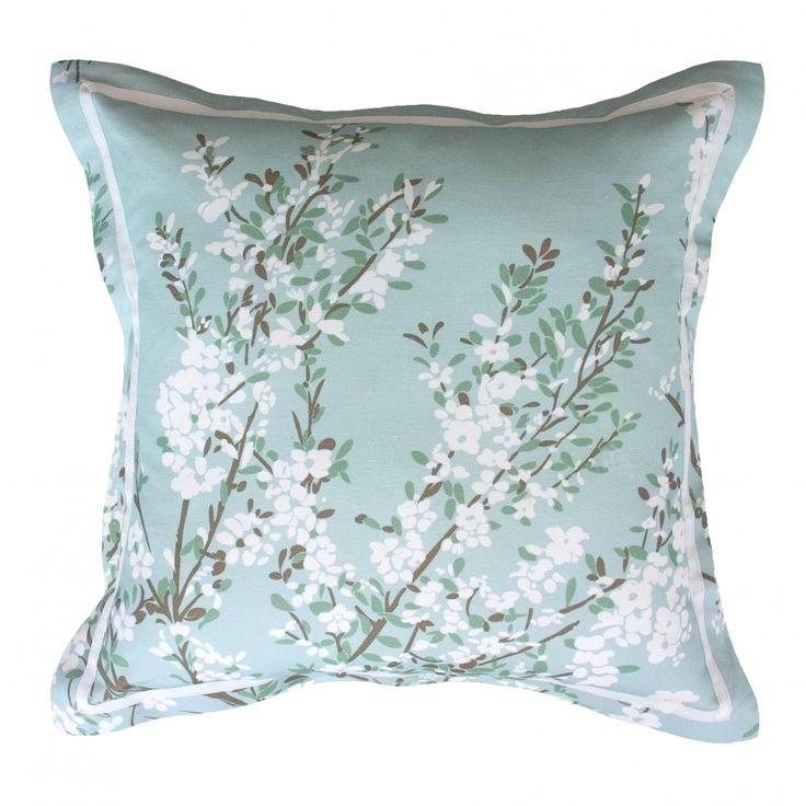 Coastal tea tree in sage green cushion cover