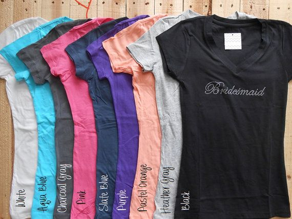 Bridesmaid T-Shirt. Bridal Party Shirts. Bride. Maid Matron of Honor. Bachelorette Party Shirts. Tee Shirt.