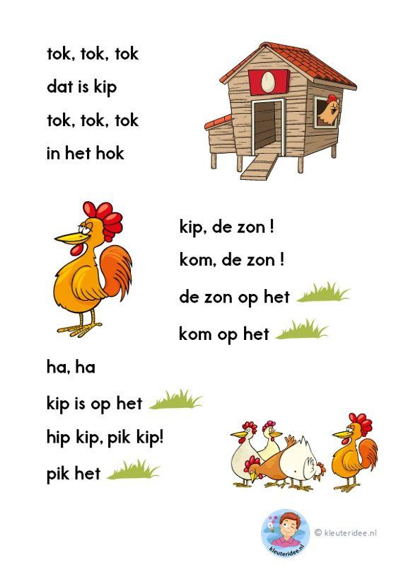 tok, tok, tok, verhaaltje voor kleuters die beginnen te lezen, AVI-start, kleuteridee.nl