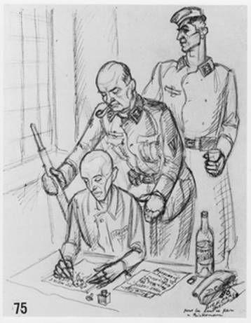 dessin David Olère sonderkommando Auschwitz Birkenau