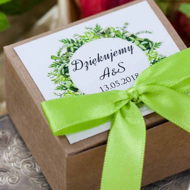podziękowanie dla gości weselnych pudełeczko